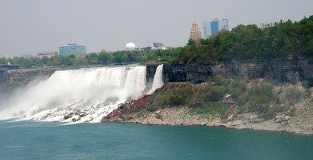 niagara falls city: Niagara Falls and City view