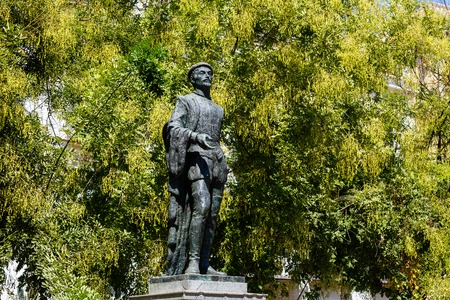 evita: Sevilla, SPAIN - September 10, 2015: statue of Don Juan Tenorio on the Sevilla street, public place