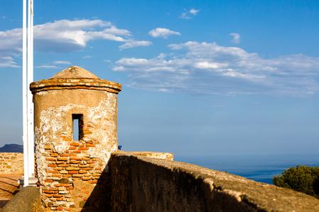 impregnable: Watchtower of Castillo de Gibralfaro, Costa del Sol, Andalusia, Spain