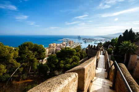 impregnable: Walls of courtyard of Castillo de Gibralfaro, Costa del Sol, Andalusia, Spain