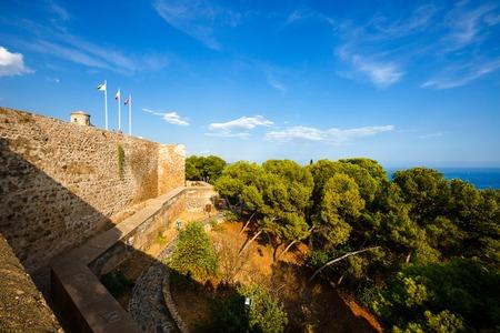 impregnable: Fortification  of  Castillo de Gibralfaro  in Malaga, Costa del Sol, Andalusia, Spain