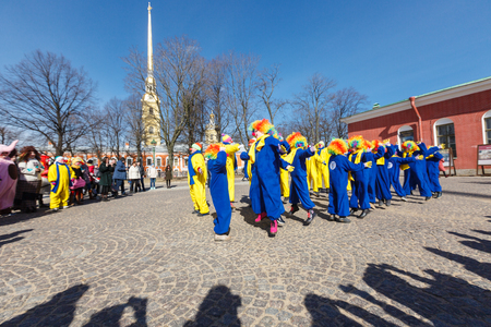 openair: Clowns performance on Funny festival XVI in Petersburg