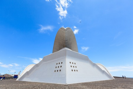 Santa Cruz de Tenerife, Spain - May 03, 2012: Auditorio de Tenerife - futuristic and inspired in organic shapes, building designed by Santiago Calatrava Editorial