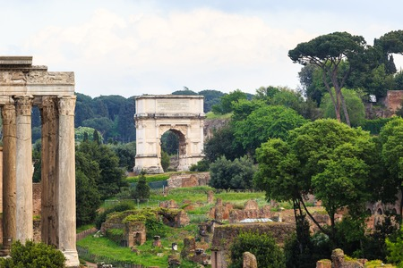 senate: The Iconic Arch of Titus on the Via Sacra in Roman Forum