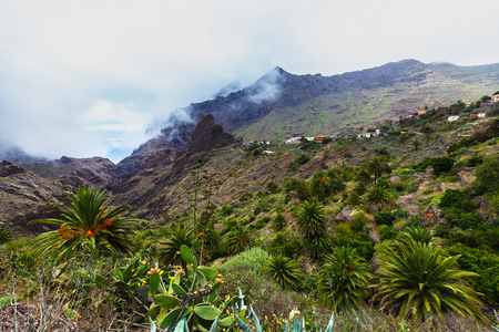 Fabulous Masca village in mountain gorge the most visited tourist attraction