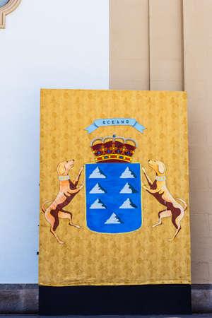 emblem of Canary Islands, Candelaria, Tenerife, Spain