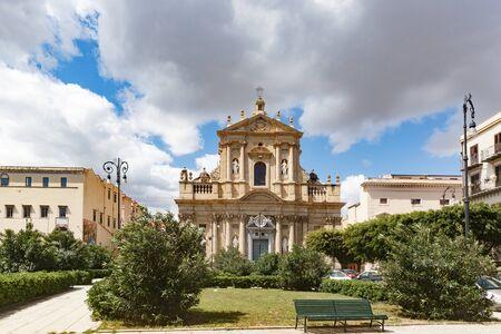 Santa Teresa alla Kalsa baroque church in Palermo, was built in 1686-1700