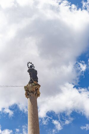 Column of the Immaculate Conception in Palermo Banco de Imagens