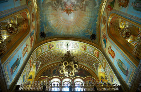 Interior of the famous Cathedral of Christ the Savior in Moscow