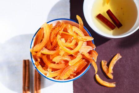 citrus handmade homemade candied with cinnamon sticks