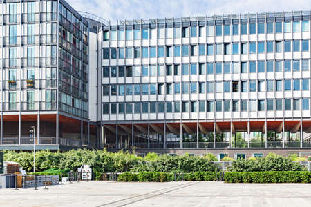 PARIS, FRANCE -1 JULY 2016- Opened in 1951, the Jussieu Campus of the Universite Pierre et Marie Curie ,UPMC ,located in the 5th arrondissement of Paris in the Latin Quarter is also known as Paris 6.
