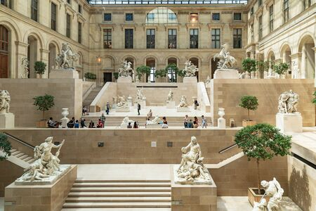 People visiting the Louvre museum is the worlds most visited museum