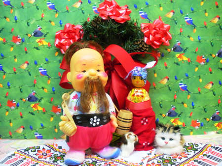 Ukrainian dolls ready for Christmas