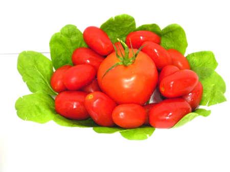トマトとほうれん草。