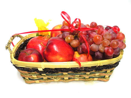 Holiday fruit basket. 版權商用圖片