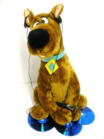 Musical fan :toy doggy. Stock fotó