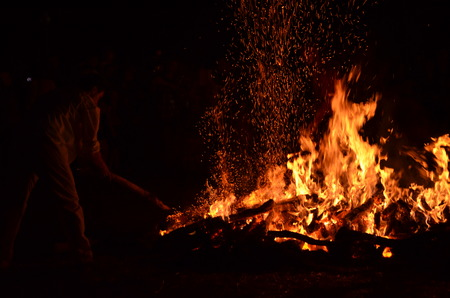たき火 写真素材