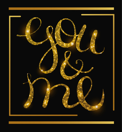 free me: Vector lettering you and me. Free style object isolated Illustration