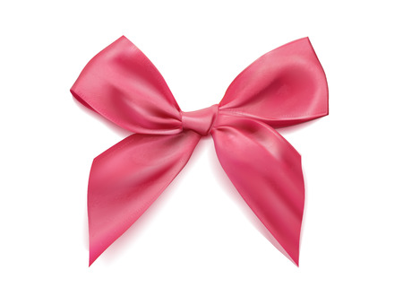 Vector photo-realistic bow isolated. Bowtie with tails object