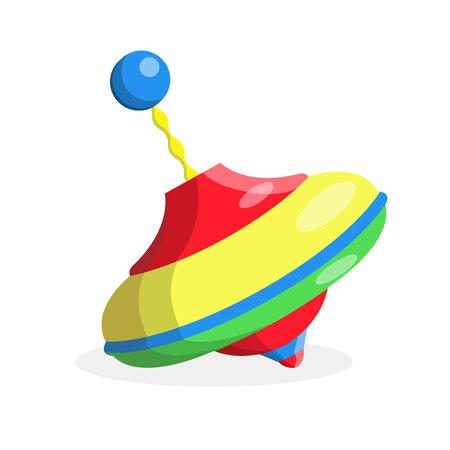 Rotating whirligig flat vector Illustration