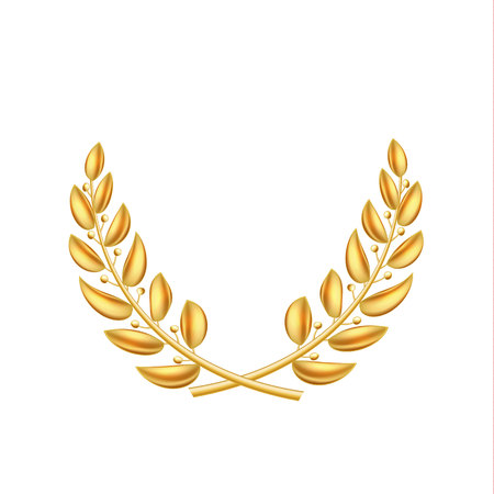 A Vector golden laurel wreath winner shiny sign