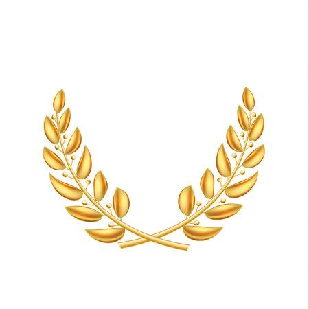 A Vector golden laurel wreath winner shiny sign