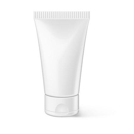 Vector realistic cosmetics tube ads template  イラスト・ベクター素材