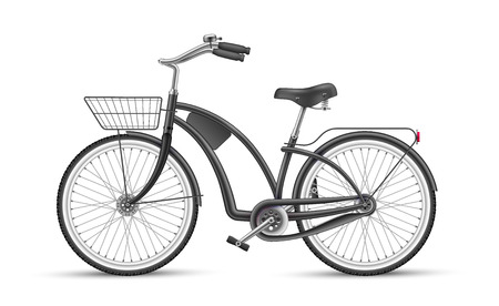 Black bicycle mock up vector illustration