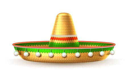 Vector sombrero 3d mexican hat cinco de mayo Vector Illustration