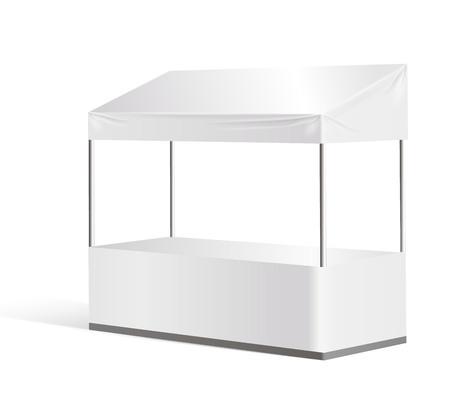 Vector information booth, exhibition stand mock up Ilustração
