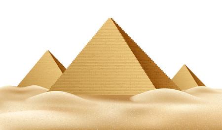 Vector pirámides de Egipto, famoso hito realista un Ilustración de vector