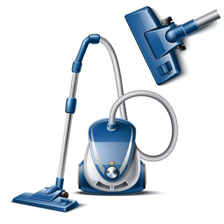 Vacuum cleaner on white 일러스트