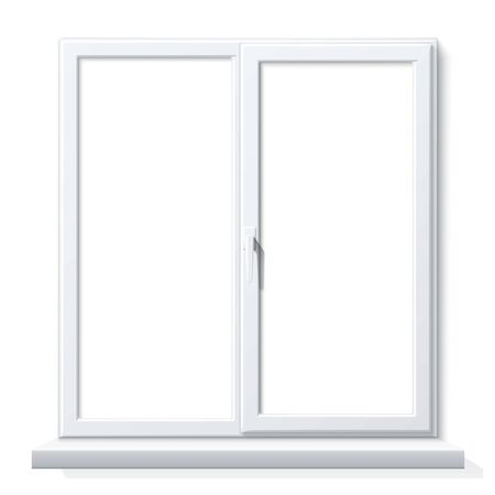 Vector realistic PVC window white blank mockup