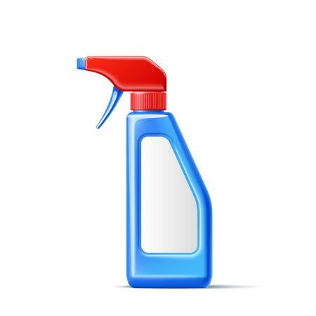 Vector 3d spray pistol detergent bottle mockup Ilustrace