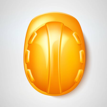 Vector realistic hard hat safery helmet labour day
