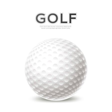 Vector golf tournament poster 3d golf ball Ilustrace