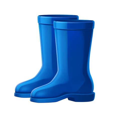 Vector realistic blue rubber boos 3d icon Иллюстрация