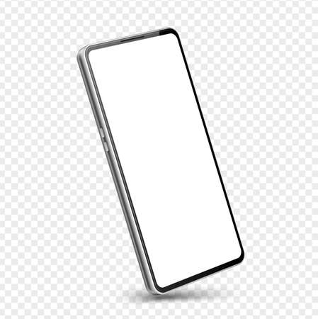 Vector realistic frameless smartphone mock up 3d Иллюстрация