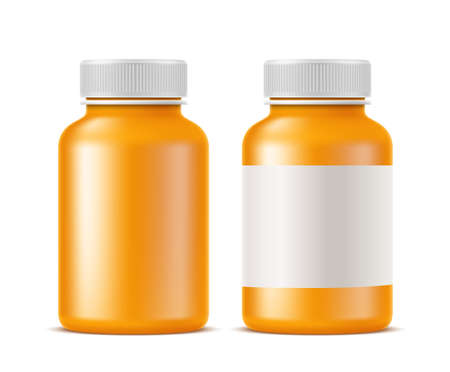 Vector realistic medical drugs pills bottle mockup