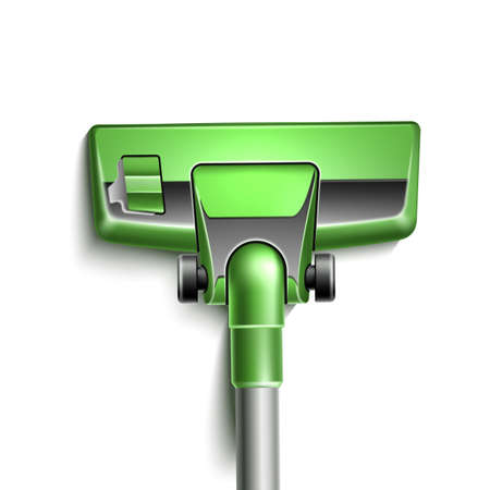 Vector green vacuum cleaner nozzle close up