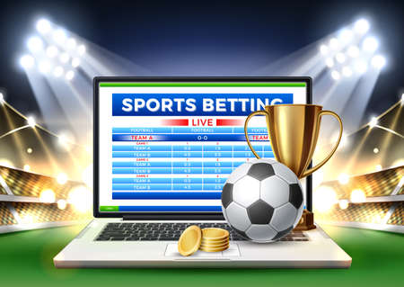 Vector online sports betting mobile app laptop