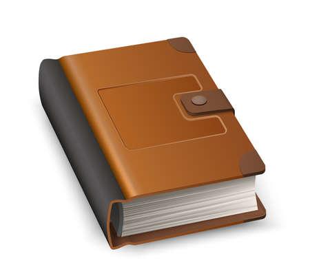 Vector 3d hardcover book symbol of knowledge Иллюстрация