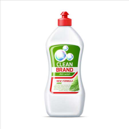 Vector blank dish washing detergent bottle mockup Illustration