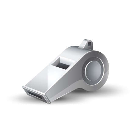 Vector realistic referee whistle for betting promo
