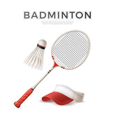 3d badminton shuttlecock white mock up