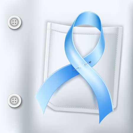 Vector diabetes day awareness symbol blue ribbon