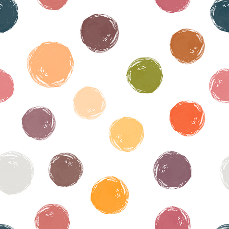 A Vector watercolor circles seamless pattern. Fall watercolor colors. It can be used as wallpaper, desktop, printing, wrapping, fabric or background for your blog, covers and your design.
