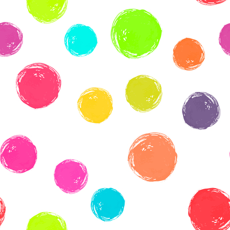 A Vector watercolor circles seamless pattern. Neon watercolor colors. It can be used as wallpaper, desktop, printing, wrapping, fabric or background for your blog, covers and your design. Illustration