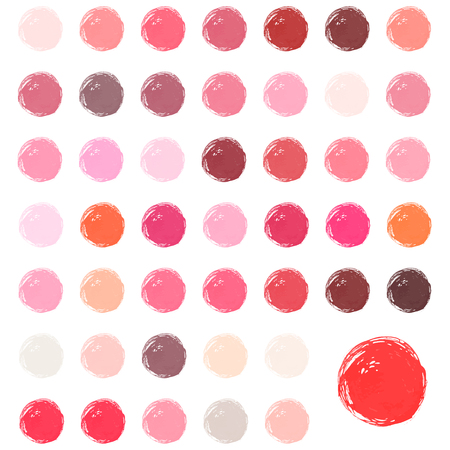 Watercolour blobs, stains, splashes. Set of colorful watercolor hand painted circle isolated on white. Love watercolor colors.