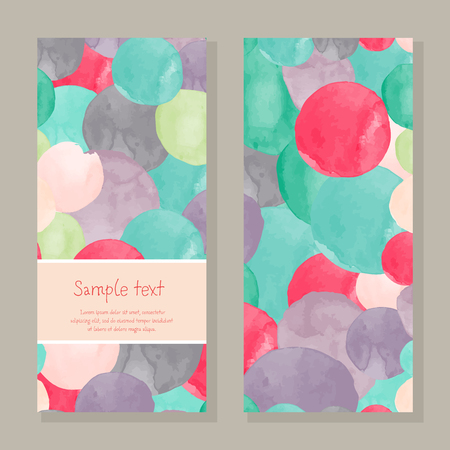 Colorful greeting card template.